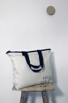Cotton - 33 - canvas w. lining - 55 x 42x15 cm base - Bagforgood