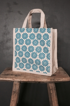 Galleri Cotton - Cotton canvas bag with gusset small sized Profilbureauet