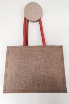 Galleri Jute - jute bag with gusset and round handles 2 Profilbureauet