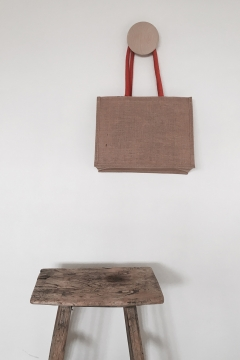 Galleri Jute - jute bag with gusset and round handles  Profilbureauet