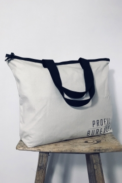 Cotton - 33-01 - canvas w. lining - 55 x 42x15 cm base - Bagforgood